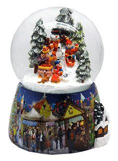 Nostalgie-Schneekugel mit Kindern und Schneemann mit Snowmotion, LED und Spieluhr- 20062 Schneekugelhaus