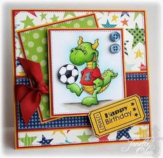 Soccer Birthday by blessingsX3 - Cards and Paper Crafts at Splitcoaststampers