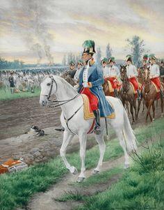 NAP- Austria: Archduke Karl with his staff,1809, by Felician Myrbach.