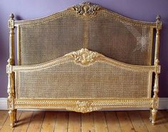 gilding the bed, one done , one to do Beautiful Beds, Beautiful Bedrooms, Rococo Furniture, French Bed, Antique Beds, White Bedrooms, Country Houses, Hotel Suites, Shabby Cottage