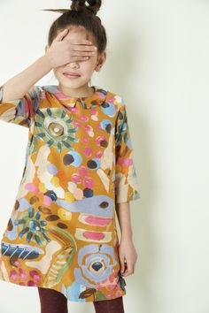 Oilily FW16. #kids #fashion #print #dress