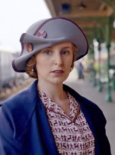 What a wonderful costume! That hat! Downton Abbey
