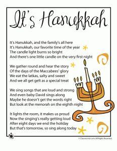 It's Hanukkah - Kids Poem