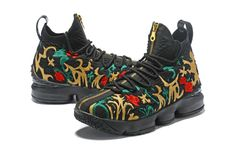 detailed pictures d1890 9aba6 KITH x Nike LeBron 15 Mens Basketball Shoes Embroidered Floral Prints Black  Pop Shoes, Shoes