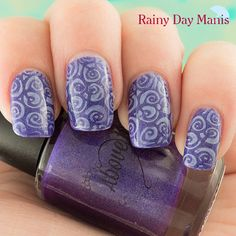 Above the Curve Lemming Have It! Stamped with Orly Violet Pastel Creme using MoYou London Artist plate 02