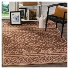 Adron Area Rug - Camel/Chocolate (Camel/Brown) (6'x9') - Safavieh