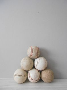 singsweetly:  (via collection of old rustic softballs // set of 6 by simplychi)