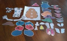 Since my busy bag swap was such a success, another group has decided to do one as well. They graciously invited me to join in the fun. For this swap, I decided to go a little more intensive and I made a Mr. Potato Head project. When I looked on the web and