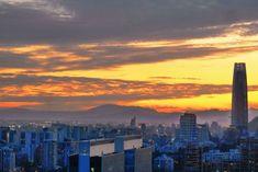 Pôr do sol em Santiago Sky Costanera Las Condes Puesta de sol