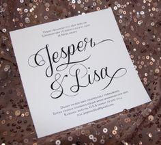 Inbjudningskort bröllop, monogram