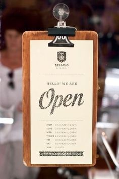 Perfect for showing pricelists or any description :) Treadly bike shop in Melbourne / Australia Menu Design, Cafe Design, Sign Design, Store Design, Display Design, Open Signs, Closed Signs, Cafe Restaurant, Restaurant Design