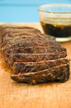 Filete de res marinado en balsámico tierna y deliciosa/ beef steak in balsamic marinade tender and delicious!