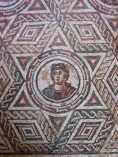 mosaic Villa Romana del Casale, Piazza Armerina, Sicily, Italy built in the first quarter of the 4th century -