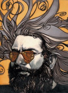 Jerry Garcia. Artist: Sterling Hundley.