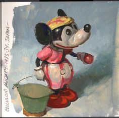 Celluloid Mickey, gouache, 5x5 inches http://melbirnkrant.com/collection/page28.html
