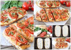 Delicious Caprese Garlic Bread Recipe 🍞 (OK 2 Like 👍) Pizza Recipes, Bread Recipes, Cooking Recipes, Healthy Recipes, Raclette Recipes, Yummy Recipes, Healthy Food, Crispy Potatoes, Roasted Potatoes