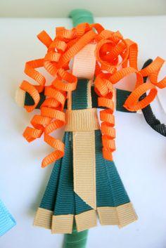 Disney Princess Inspired Ribbon Sculpture Patterns: Day 2- Merida from Brave