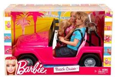 Mattel Barbie and Ken Pink Beach Cruiser Jeep Car NEW NIB