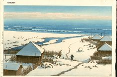 Hasui Kawase: Onjuku, Chiba (1950)