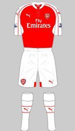 Arsenal - Home Strip. 2015/16.