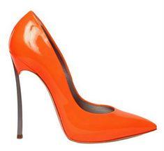 Orange Casadei Fluo Blade Pumps