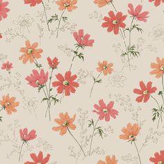 Garden Fantasy Floral Vintage Wallpaper