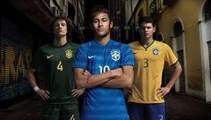 Brasil - A coleção de camisas da seleção brasileiras enfim está completa. A CBF (Confederação Brasileira de Futebol) e a fornecedora de material esportiva apresentaram nesta quarta-feira (5) o uniforme número 2, momentos antes do amistoso contra a África do Sul. A camisa azul foi inspirada no litoral do País