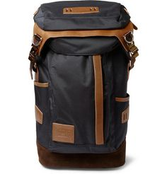 Master-Piece Potential Leather and Suede-Trimmed Nylon Backpack | MR PORTER