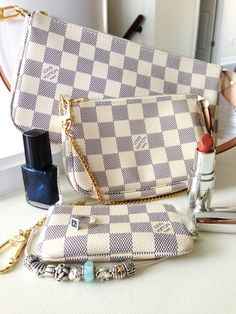 Going out in style with Louis Vuitton Damier Azur Collection and Pandora.  www.lacuisinehelene.com