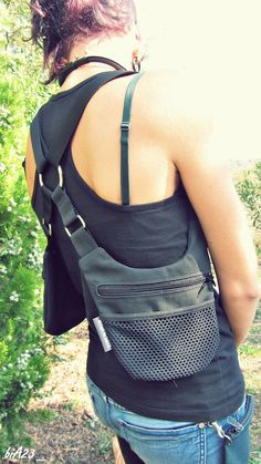 HOLSTER bag // Unisex // ADJUSTABLE // Anthracite black by bia23, €37.00
