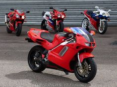 All my dream bikes in one picture : Honda NR750, VTR SP1, RVF RC45 and RC30.