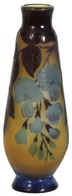 Beautiful Galle Cameo Cut Vase