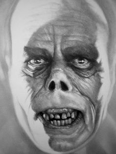 Universal Classic Monsters Art : The Phantom Of The Opera 1925 by Darrel Bevans Classic Horror Movies, Horror Films, Horror Art, Silent Horror, Silent Film, Scary Movies, Old Movies, Hollywood Monsters, Retro Tattoos