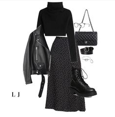 Winter Fashion Outfits, Edgy Outfits, Cute Casual Outfits, Look Fashion, Autumn Winter Fashion, Korean Fashion, Fall Outfits, Womens Fashion, Outfit Stile