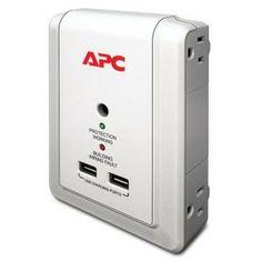 APC Surge Arrest Essential 4-Outlets Surge Suppressor-P4WUSB at The Home Depot