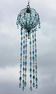 https://flic.kr/p/8TRE57 | glass float and glass drop chandelier