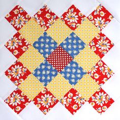 Red Great Granny Block by bitty bits & pieces