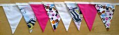 Liquorice Allsorts Fabric Bunting  2 by MollyFelicityDesigns, £12.50