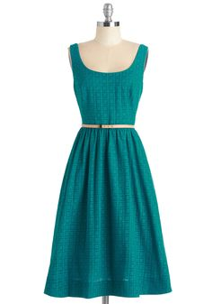 Bliss or That Dress. When you stand in front of your closet with a decision to make, choose this deep teal dress for a no-fail look! #green #modcloth