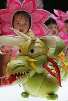 Dragon fruit art!