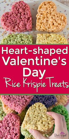 Valentine's Day is the time for all things sweet and heart shaped! These heart shaped rice krispie treats are perfect … Valentine Desserts, Valentines Day Treats, Valentine Crafts, Rice Krispie Treats, Rice Krispies, All Family, Family Night, Low Carb Cheesecake, Low Carb Chocolate