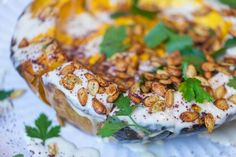 Whole Roast Pumpkin Pie With Vegan Almond Cream Dressing — Farm to Fork Almond Cream, Cashew Cream, Ella Vegan, Roast Pumpkin, Serving Platters, Going Vegan, Main Meals, Vegan Vegetarian, Fork