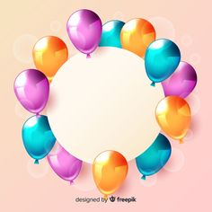 Happy Birthday Disney, Happy Birthday Wishes Quotes, Happy Birthday Cards, Balloon Background, Flower Background Wallpaper, Flower Backgrounds, Balloon Illustration, Project Life Cards, Bday Cards