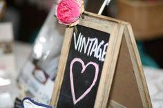 Small Rustic Easel Chalkboard www.capeoflove.com