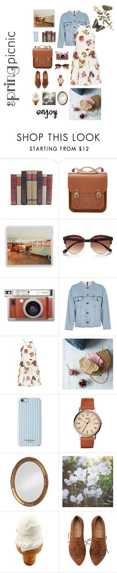 """""""Spring picnic"""" by inspiredfashion99 ❤ liked on Polyvore featuring The Cambridge Satchel Company, River Island, Lomography, Topshop, Isaac Mizrahi, FOSSIL and Howard Elliott"""
