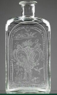 Etched Glass Bottle