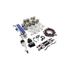 Chevy SBC Down Draft 8 Stack Turnkey EFI Individual Throttle Body System Kit