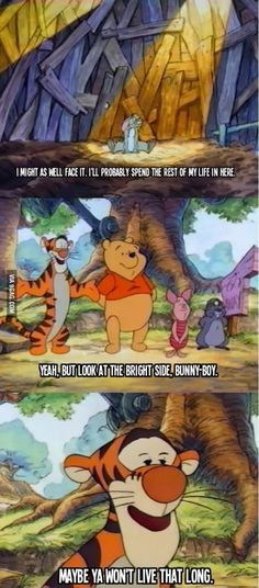 Tigger could be really morbid