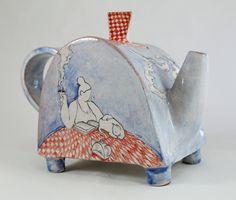 lady & cat I teapot by Giannis Agathos