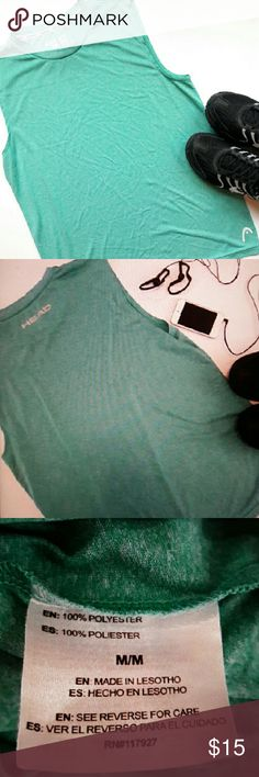 {Mens} Head muscle workout shirt In perfect condition. Like new! Teal muscle shirt perfect for lifting weights and cardio. Wicks away moisture and keeps you dry. From a smoke and pet free home. Fast shipping! Head Shirts